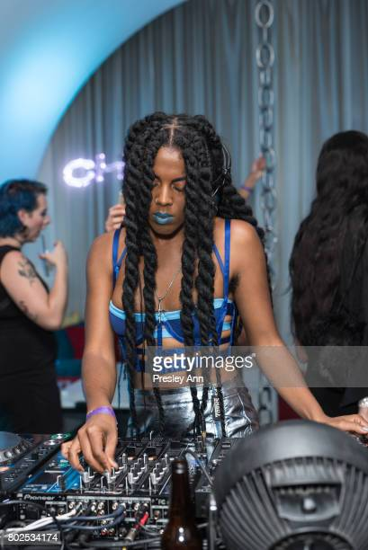 Juliana Huxtable attends MAC Celebrates the Winner of the CFDA/Vogue Fashion Fund Capsule Collection CHROMAT at Maru Karaoke Lounge on June 27 2017...