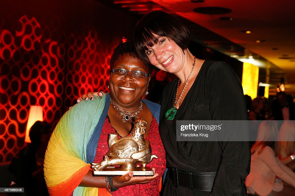 Juliana Luisa Gombe and Alexa Volquarts attend Madeleine At Goldene Henne 2015 on September 05 2015 in Berlin Germany