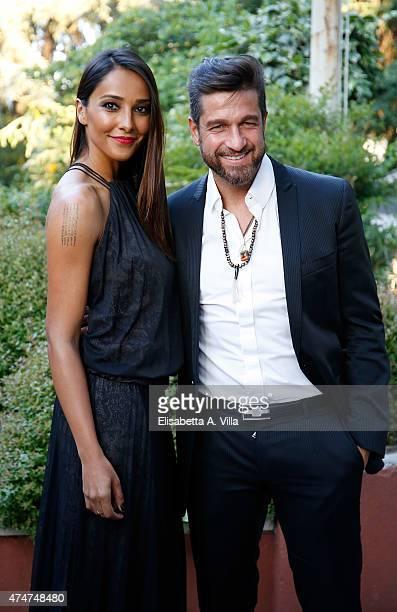 Juliana Moreira and Edoardo Stoppa arrive at PREMIO TV 2015 Awards at RAI Dear Studios on May 25 2015 in Rome Italy