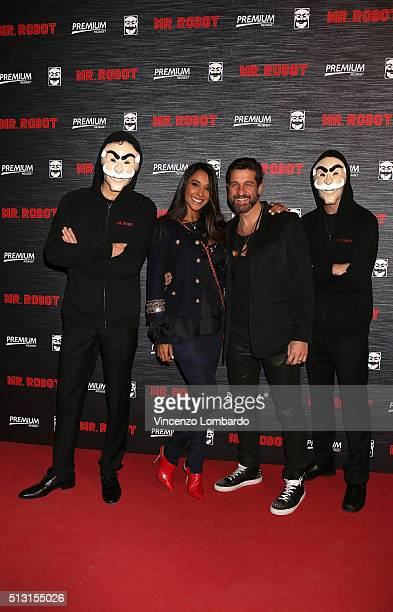 Juliana Moreira and Edoardo Stoppa attend the 'Mr Robot' Tv Show Photocall on February 29 2016 in Milan Italy