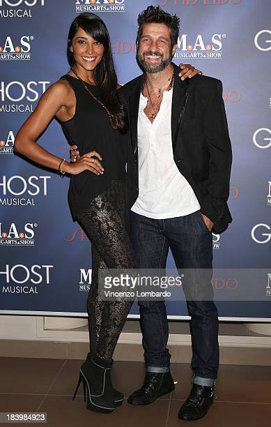 Juliana Moreira and Edoardo Stoppa attend the opening night of 'Ghost The Musical' at the Teatro Nazionale on October 10 2013 in Milan Italy