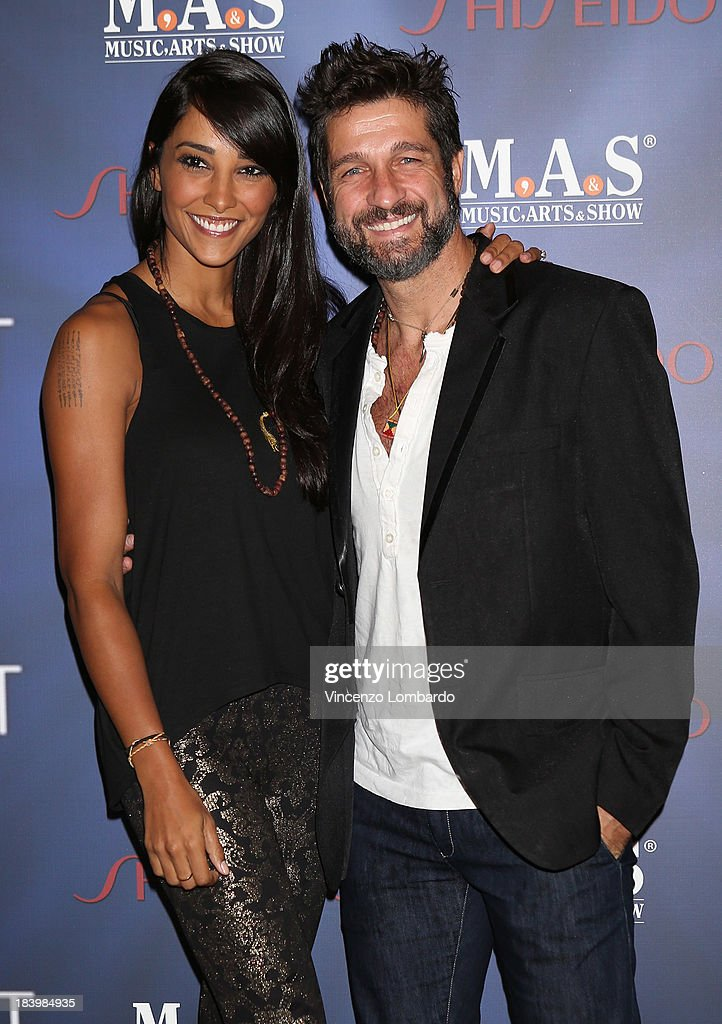 Juliana Moreira and Edoardo Stoppa attend the opening night of 'Ghost - The Musical' at the Teatro Nazionale on October 10, 2013 in Milan, Italy.