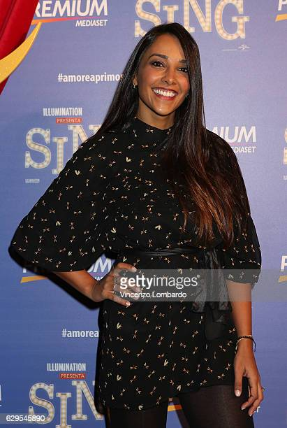 Juliana Moreira attends a photocall for 'Sing' on December 13 2016 in Milan Italy