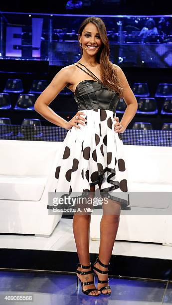 Juliana Moreira attends 'Si Puo Fare' Tv Show at RAI Studios on April 9 2015 in Rome Italy