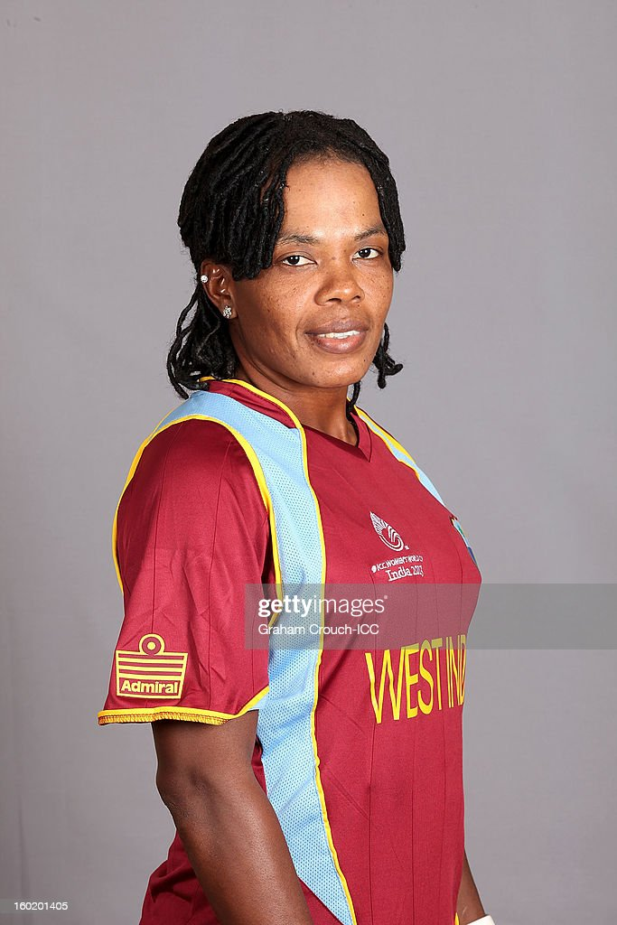Juliana Nero of West Indies poses at a portrait session ahead of the ICC Womens World Cup 2013 at the Taj Mahal Palace Hotel on January 27, 2013 in Mumbai, India.