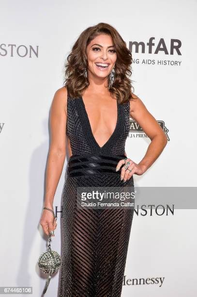 Juliana Paes attends the 7th Annual amfAR Inspiration Gala on April 27 2017 in Sao Paulo Brazil