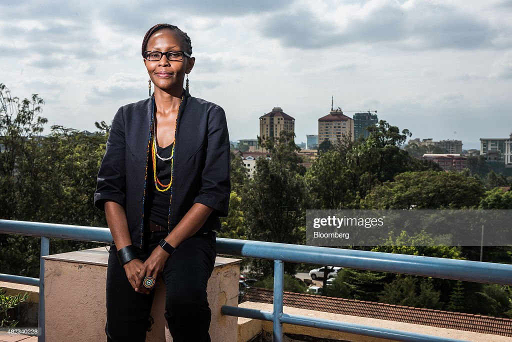 Juliana Rotich, a trustee of i-Hub, poses for a photograph at the i-Hub technology innovation center in Nairobi, Kenya, on Thursday, July 23, 2015. Together, the entrepreneurs come up with concepts like Ushahidi, the open-source software that's used to share information and interactive maps to prevent conflicts and help aid agencies provide relief in disaster zones. Photographer: Waldo Swiegers/Bloomberg via Getty Images
