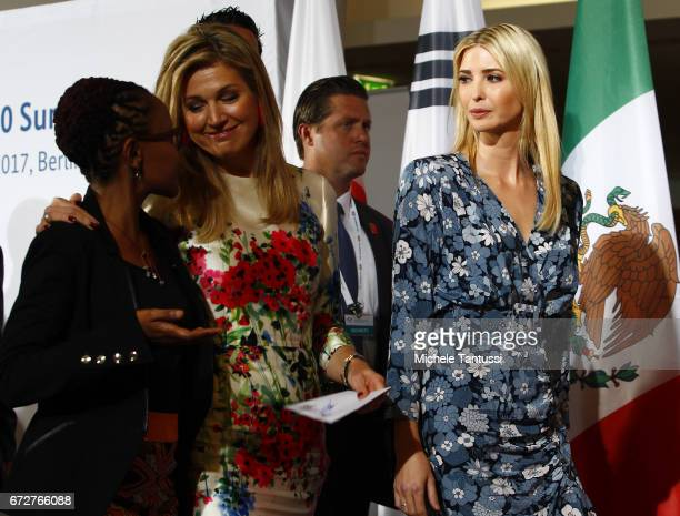 Juliana Rotich BRCK speak with queen Maxima of the Netherlands and Ivanka Trump First Daughter and Advisor to the President of the United States of...