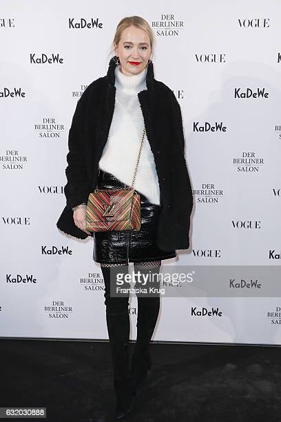 Juliane Diesner attend the celebration of 'Der Berliner Mode Salon' by KaDeWe Vogue at KaDeWe on January 18 2017 in Berlin Germany