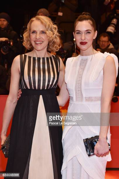 Juliane Koehler and Kim Riedle attend the 'Django' premiere during the 67th Berlinale International Film Festival Berlin at Berlinale Palace on...