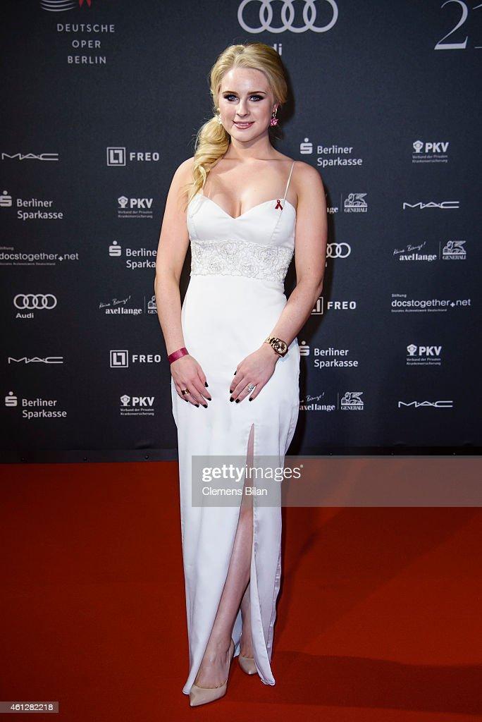 Juliane Lipke attends the 21st Aids Gala at Deutsche Oper Berlin on January 10, 2015 in Berlin, Germany.