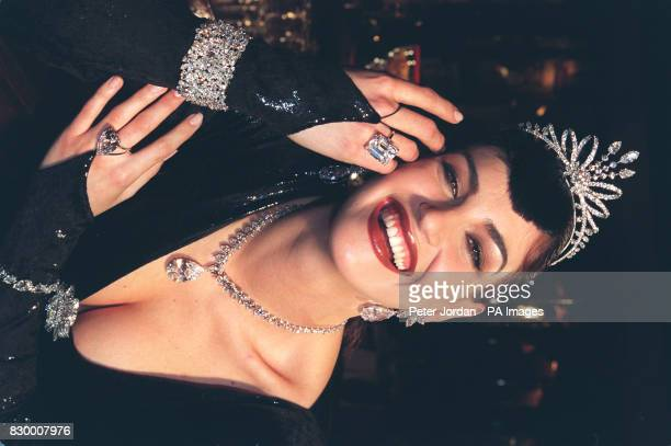Julianna Gratt models 10 million worth of diamond jewellery tolaunch 'Diamond Week' at Annabel's in central London today The charity event which has...