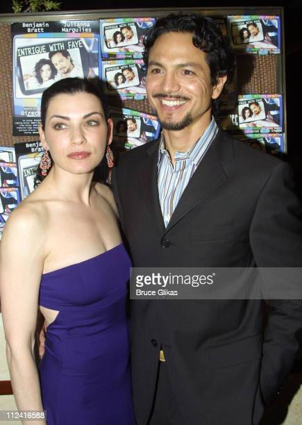 Julianna Margulies and Benjamin Bratt during After Party Celebrating Opening Night for 'Intrigue With Faye' at West Bank Cafe in New York City New...