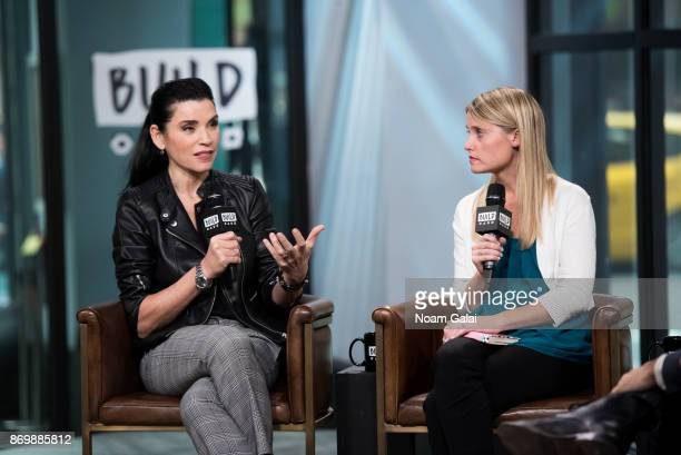 Julianna Margulies and Erin Merryn visit Build Series to discuss Erin's Law at Build Studio on November 3 2017 in New York City