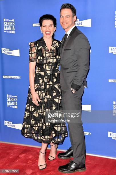 Julianna Margulies and her husband Keith Lieberthal attend the 'Series Mania' photocall at Forum des Halles on April 20 2017 in Paris France