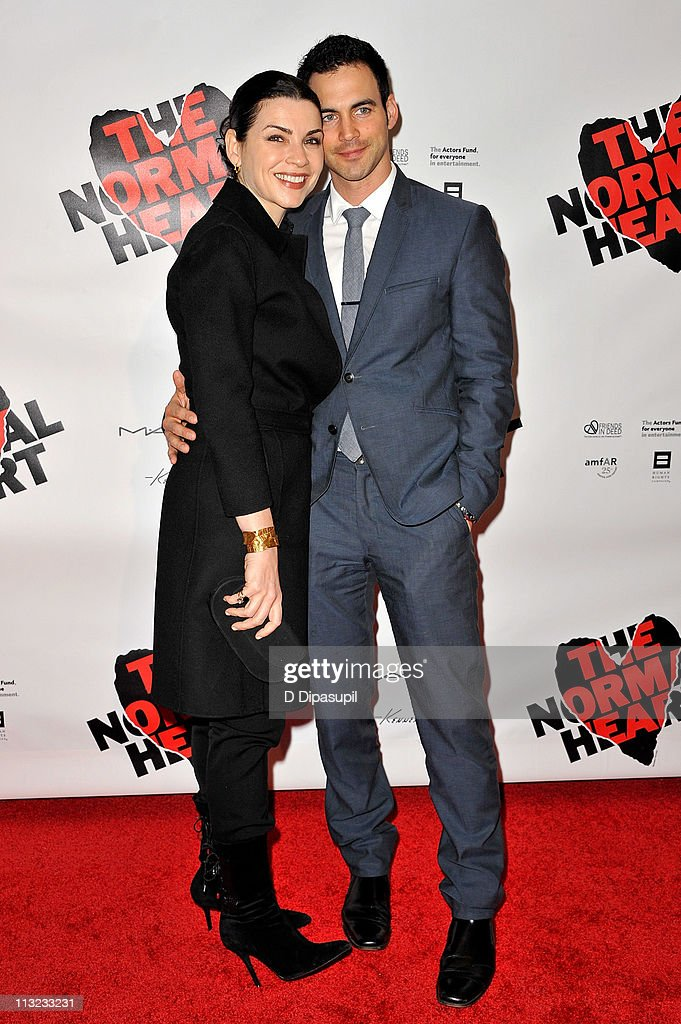 <a gi-track='captionPersonalityLinkClicked' href=/galleries/search?phrase=Julianna+Margulies&family=editorial&specificpeople=208994 ng-click='$event.stopPropagation()'>Julianna Margulies</a> (L) and husband Keith Lieberthal attend the Broadway opening night of 'The Normal Heart' at The Golden Theatre on April 27, 2011 in New York City.