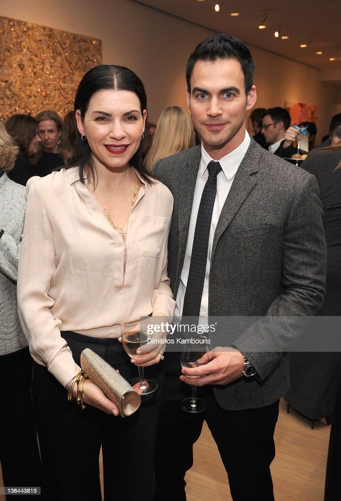 <a gi-track='captionPersonalityLinkClicked' href=/galleries/search?phrase=Julianna+Margulies&family=editorial&specificpeople=208994 ng-click='$event.stopPropagation()'>Julianna Margulies</a> and Keith Lieberthal attend the book launch party for Ali Wentworth's new book 'Ali In Wonderland' at Sotheby's on February 6, 2012 in New York City.