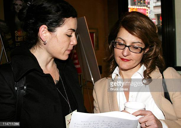 Julianna Margulies and Nia Vardalos during 24 Hour Plays Rehearsal October 23 2006 at American Airlines Theatre in New York City New York United...