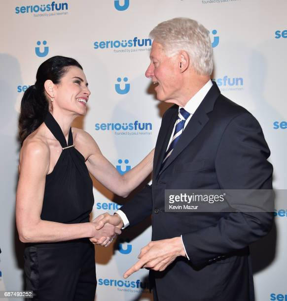 Julianna Margulies and President Bill Clinton attend the SeriousFun Children's Network Gala at Pier 60 on May 23 2017 in New York City