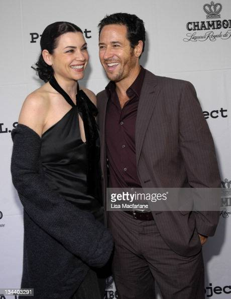 Julianna Margulies and Rob Morrow during The Chambord Project Raise Money by Raising Your Glass in New York City New York United States