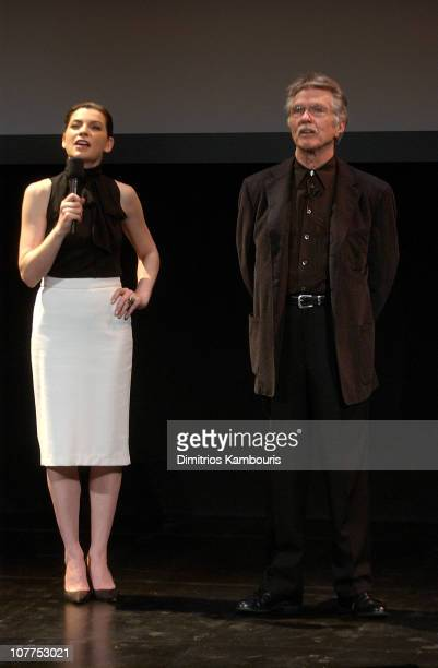 Julianna Margulies and Tom Skerritt 3837_059 during TBS/TNT Upfront Rehearsals April 22 2004 at Armory in New York City New York United States