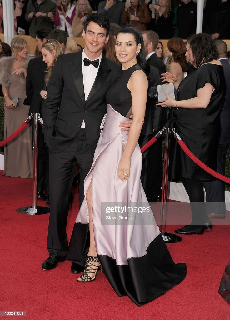 Julianna Margulies arrives at the 19th Annual Screen Actors Guild Awards at The Shrine Auditorium on January 27, 2013 in Los Angeles, California.