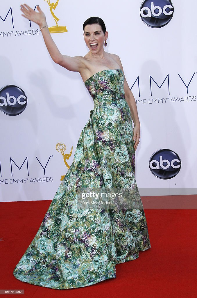 Julianna Margulies arrives at the 64th Primetime Emmy Awards held at Nokia Theatre L.A. Live on September 23, 2012 in Los Angeles, California.