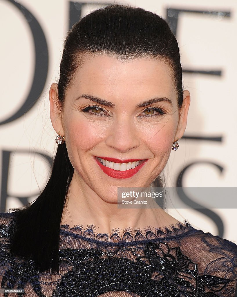 Julianna Margulies arrives at the 70th Annual Golden Globe Awards at The Beverly Hilton Hotel on January 13, 2013 in Beverly Hills, California.