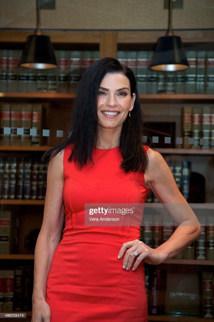<a gi-track='captionPersonalityLinkClicked' href=/galleries/search?phrase=Julianna+Margulies&family=editorial&specificpeople=208994 ng-click='$event.stopPropagation()'>Julianna Margulies</a> at 'The Good Wife' Set Visit at on September 25, 2015 at Stages in Brooklyn, New York.