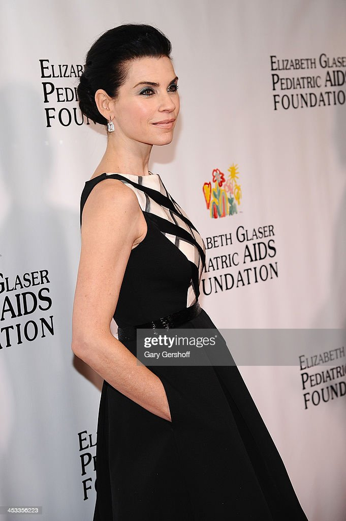 Julianna Margulies attends Elizabeth Glaser Pediatric AIDS Foundation's Global Impact Award Gala Dinner Honoring Hillary Clinton at Best Buy Theater on December 3, 2013 in New York City.