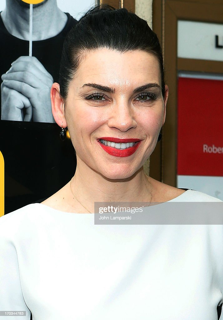 <a gi-track='captionPersonalityLinkClicked' href=/galleries/search?phrase=Julianna+Margulies&family=editorial&specificpeople=208994 ng-click='$event.stopPropagation()'>Julianna Margulies</a> attends 'Reasons To Be Happy' Broadway Opening Night at the Lucille Lortel Theatre on June 11, 2013 in New York City.