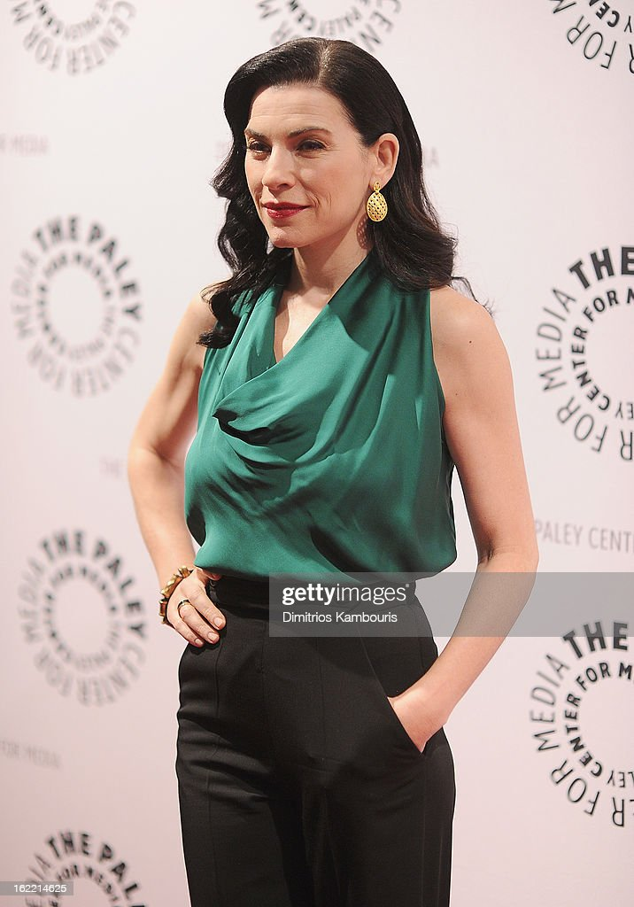 <a gi-track='captionPersonalityLinkClicked' href=/galleries/search?phrase=Julianna+Margulies&family=editorial&specificpeople=208994 ng-click='$event.stopPropagation()'>Julianna Margulies</a> attends She's Making Media: <a gi-track='captionPersonalityLinkClicked' href=/galleries/search?phrase=Julianna+Margulies&family=editorial&specificpeople=208994 ng-click='$event.stopPropagation()'>Julianna Margulies</a> Panel Discussion at The Paley Center for Media on February 20, 2013 in New York City.