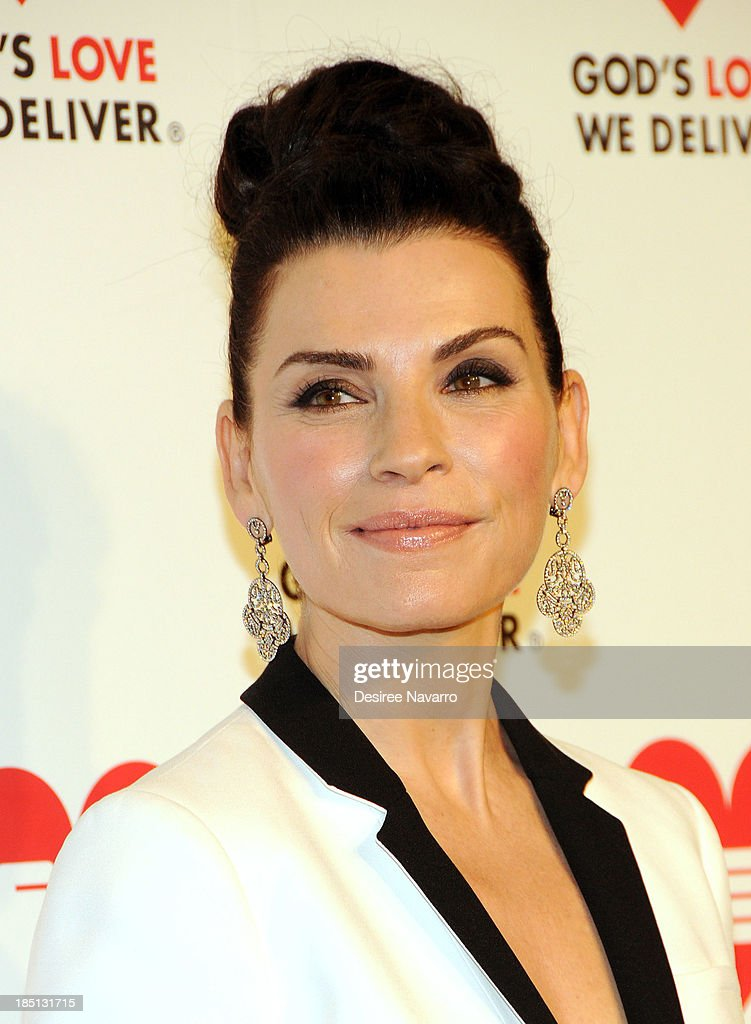 <a gi-track='captionPersonalityLinkClicked' href=/galleries/search?phrase=Julianna+Margulies&family=editorial&specificpeople=208994 ng-click='$event.stopPropagation()'>Julianna Margulies</a> attends the 2013 God's Love We Deliver 2013 Golden Heart Awards Celebration at Spring Studios on October 16, 2013 in New York City.