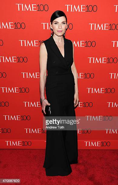Julianna Margulies attends the 2015 Time 100 Gala at Frederick P Rose Hall Jazz at Lincoln Center on April 21 2015 in New York City