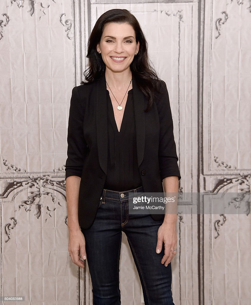 <a gi-track='captionPersonalityLinkClicked' href=/galleries/search?phrase=Julianna+Margulies&family=editorial&specificpeople=208994 ng-click='$event.stopPropagation()'>Julianna Margulies</a> attends the AOL BUILD Series at AOL Studios In New York on January 8, 2016 in New York City.