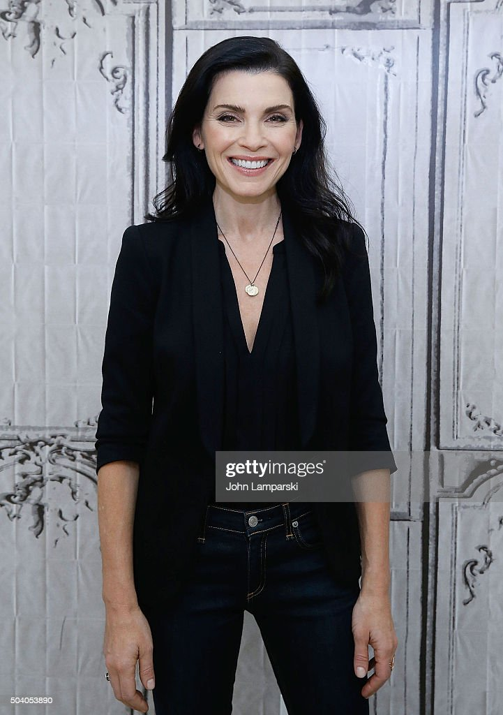 <a gi-track='captionPersonalityLinkClicked' href=/galleries/search?phrase=Julianna+Margulies&family=editorial&specificpeople=208994 ng-click='$event.stopPropagation()'>Julianna Margulies</a> attends 'The Good Wife' during AOL Build speaker series at AOL Studios In New York on January 8, 2016 in New York City.