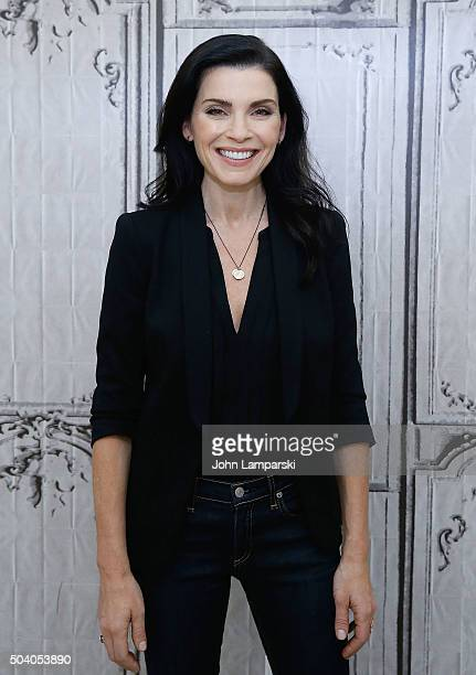 Julianna Margulies attends 'The Good Wife' during AOL Build speaker series at AOL Studios In New York on January 8 2016 in New York City