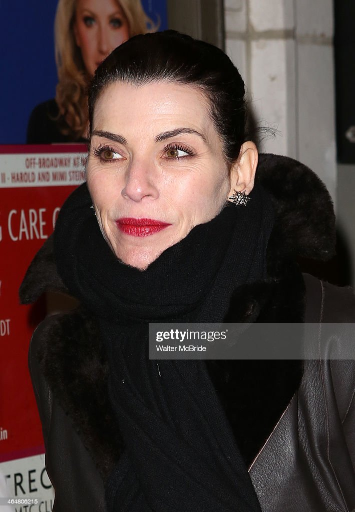 Julianna Margulies attends the 'Outside Mullinger' Broadway opening night at Samuel J. Friedman Theatre on January 23, 2014 in New York City.
