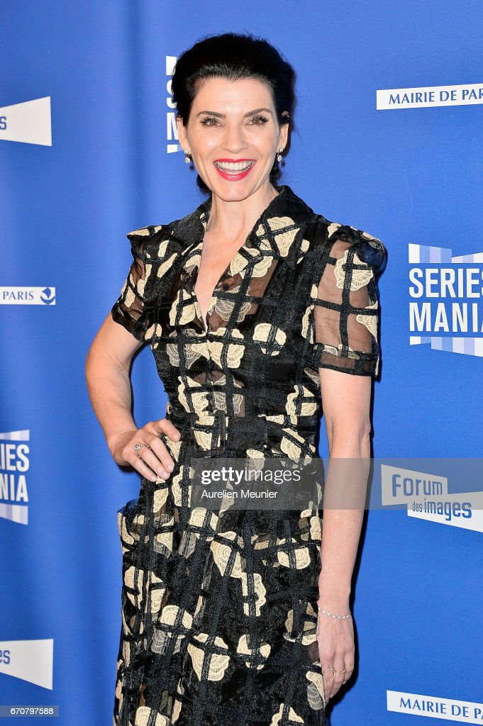 Julianna Margulies attends the 'Series Mania' photocall at Forum des Halles on April 20, 2017 in Paris, France.