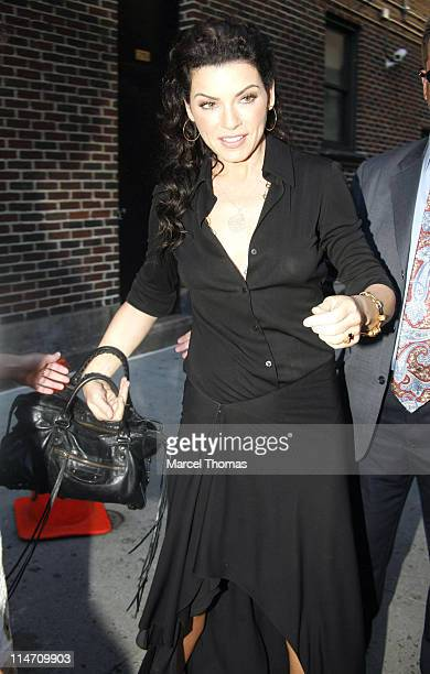 Julianna Margulies during Julianna Margulies and Maggie Gyllenhaal Stop by 'Late Show with David Letterman' August 21 2006 at Ed Sullivan Theatre in...