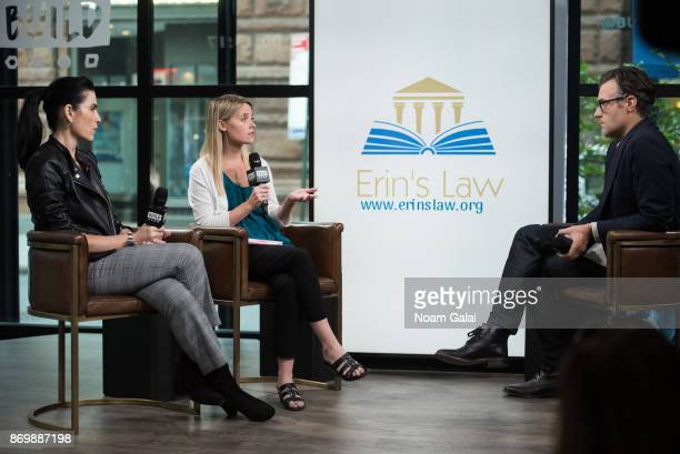Julianna Margulies Erin Merryn and Ricky Camilleri visit Build Series to discuss Erin's Law at Build Studio on November 3 2017 in New York City