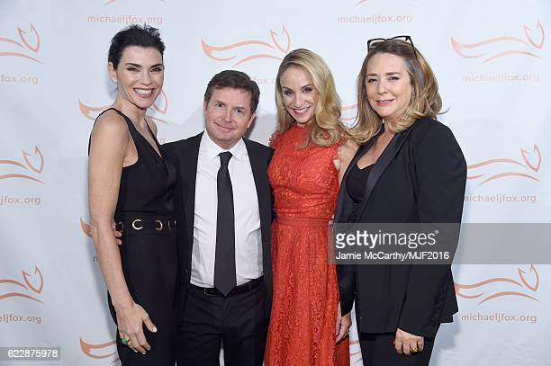Julianna Margulies Michael J Fox Tracy Pollan and Talia Balsam attend Michael J Fox Foundation's 'A Funny Thing Happened On The Way To Cure...