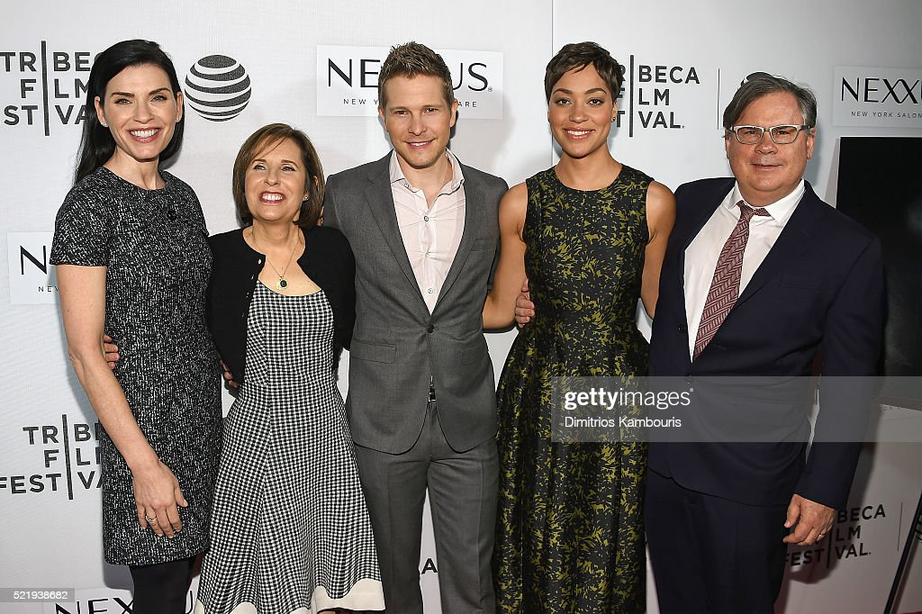 Julianna Margulies Michelle King Matt Czuchry Cush Jumbo and Robert King attend 'The Good Wife' Screening during the 2016 Tribeca Film Festival at...