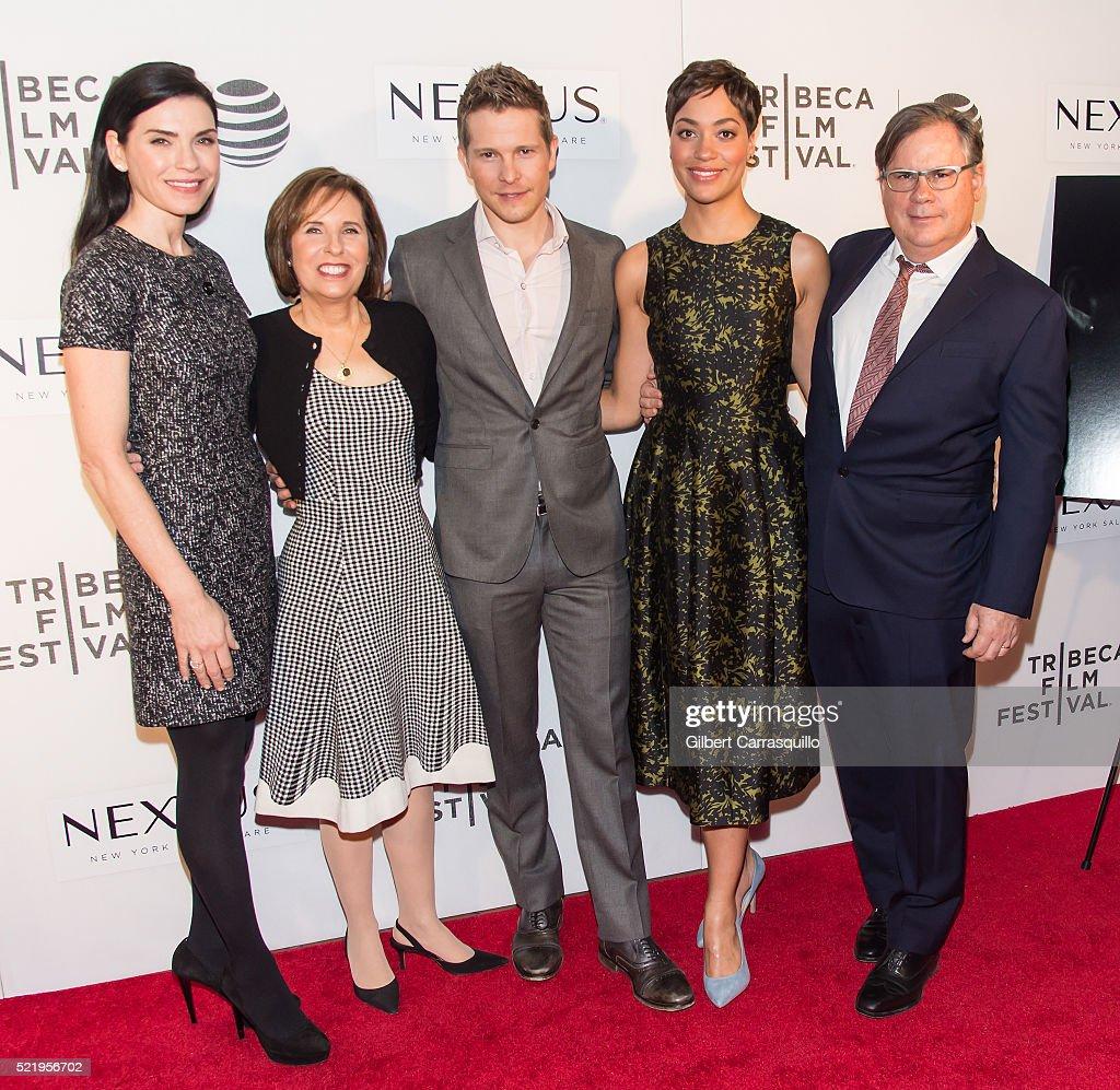 Julianna Margulies Michelle King Matt Czuchry Cush Jumbo and Robert King attend 'The Good Wife' Screening during 2016 Tribeca Film Festival at John...