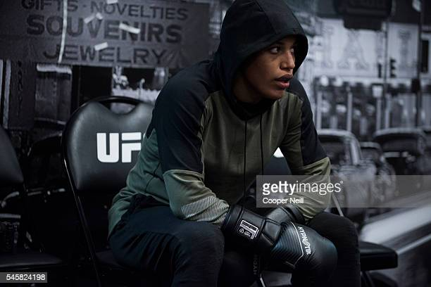 Julianna Pena warms up in the locker room before UFC 200 at TMobile Arena on July 9 2016 in Las Vegas Nevada