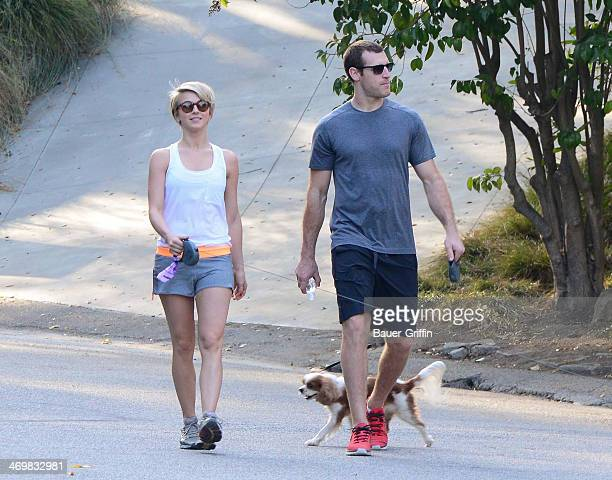 Julianne Hough and Brooks Laich are seen on February 16 2014 in Los Angeles California