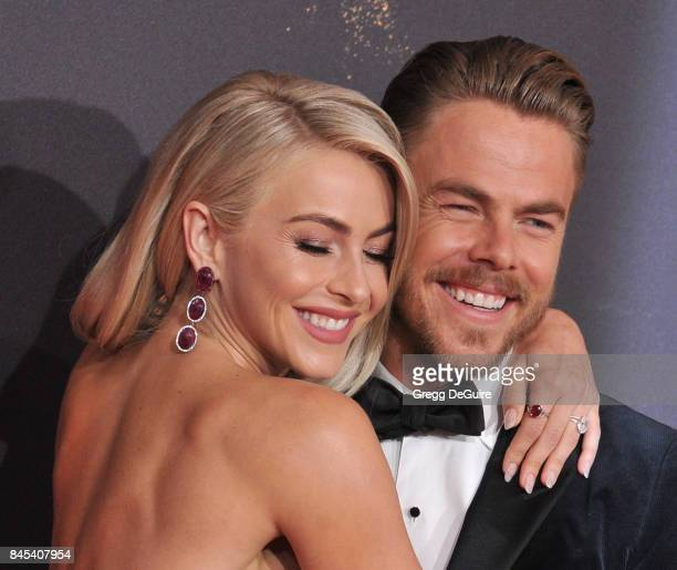 Julianne Hough and Derek Hough arrive at the 2017 Creative Arts Emmy Awards Day 1 at Microsoft Theater on September 9 2017 in Los Angeles California