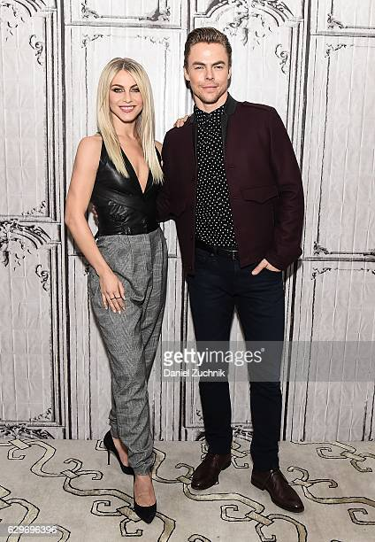 Julianne Hough and Derek Hough attend AOL Build to discuss the 'Move Live' Performance Tour at AOL HQ on December 14 2016 in New York City