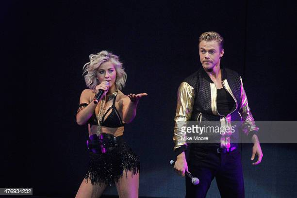 Julianne Hough and Derek Hough perform on their 2015 Move Live Tour at Comerica Theatre on June 12 2015 in Phoenix Arizona