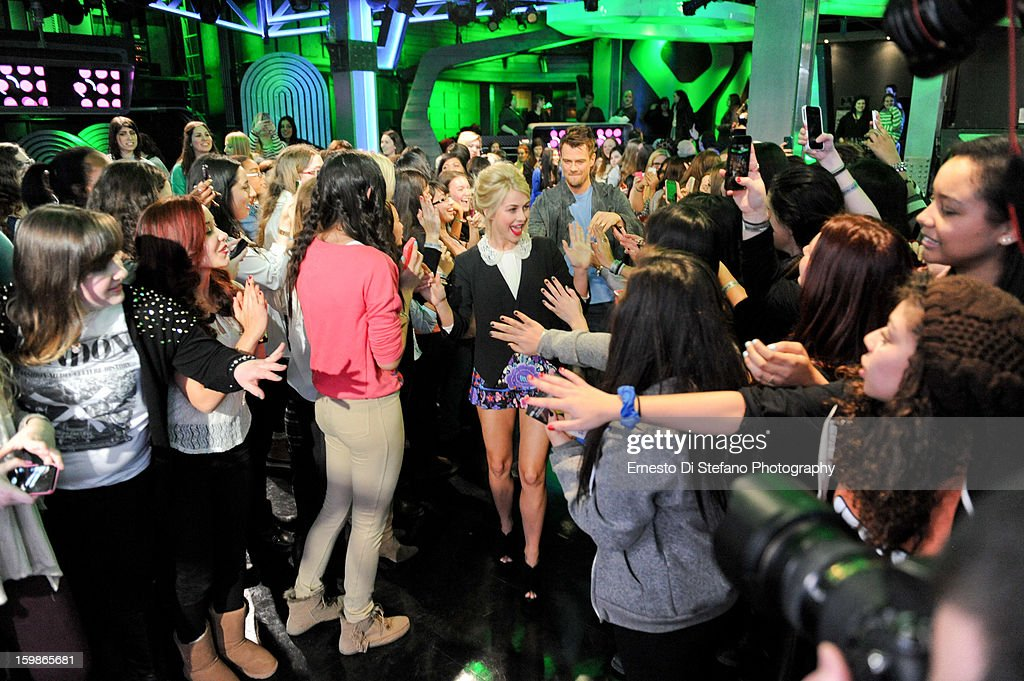 Julianne Hough and Josh Duhamel interview on New.Music.Live at MuchMusic Headquarters on January 21, 2013 in Toronto, Canada.